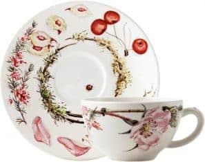 2 breakfast cup & saucer