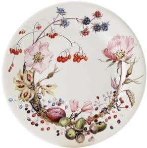 4 dessert plate floral