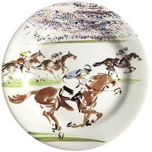 4 Dessert plates Flat racing