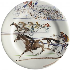 4 Dessert plates Harness racing