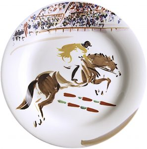 4 Canape plates Show jumping