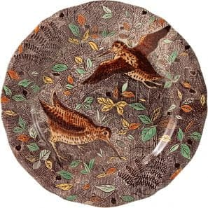 1 Luncheon plate Woodcock