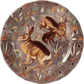 1 Luncheon plate Rabbit