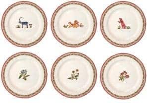 6 Dessert plates, assorted