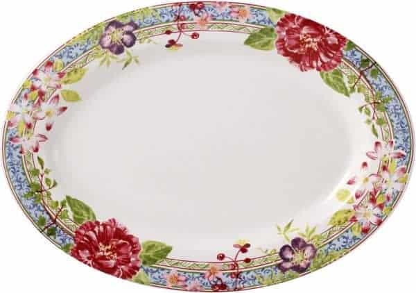 1 Oval platter Nr 6