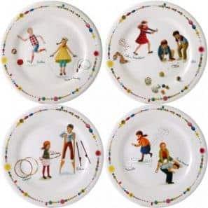 4 Dessert plates