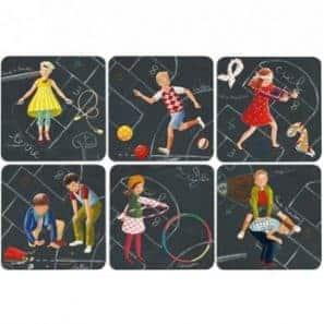 6 Acrylic coasters