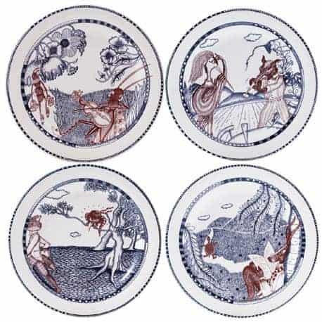 4 Canape plates