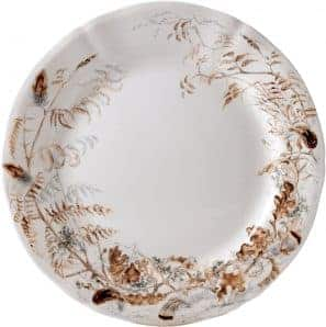 6 Dessert plate Feuillages